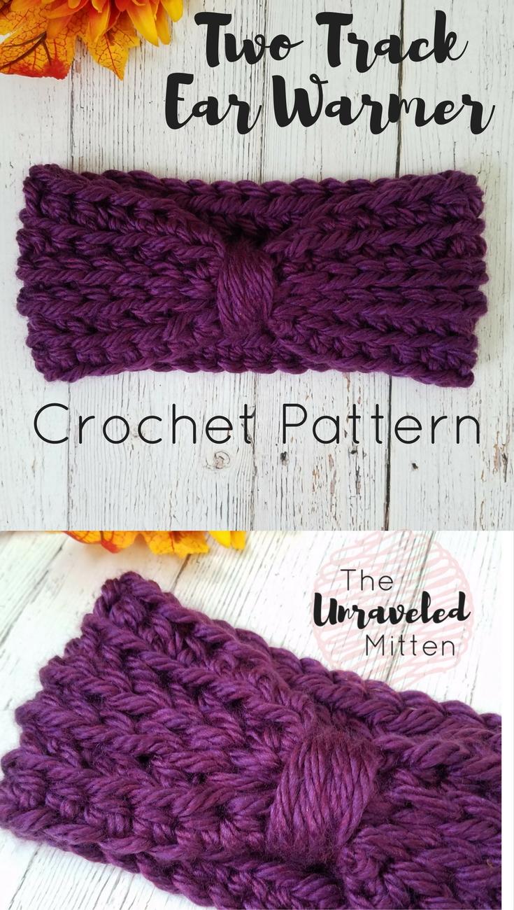 Two Track Ear Warmer | Easy Crochet Pattern | The Unraveled Mitten