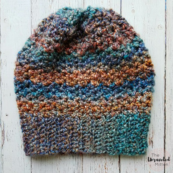 Color Tour Slouchy Hat | Free Crochet Pattern | The Unravled Mitten