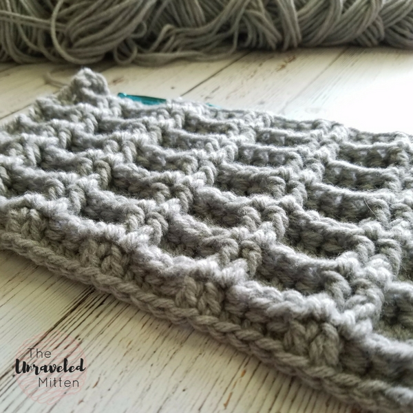 double waffle stitch | free crochet tutorial | the unraveled mitten