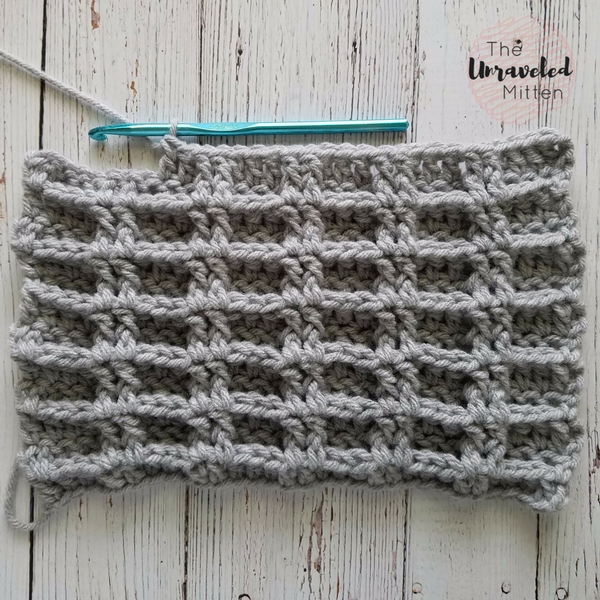 The Double Waffle Crochet Stitch The Unraveled Mitten