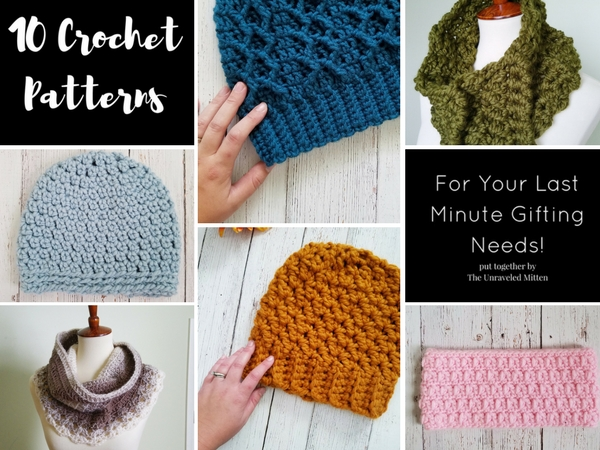 10 crochet patterns to make for last minute Christmas gifts | The unraveled mitten