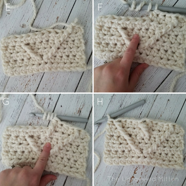 Crochet Cable Heart tutorial 2