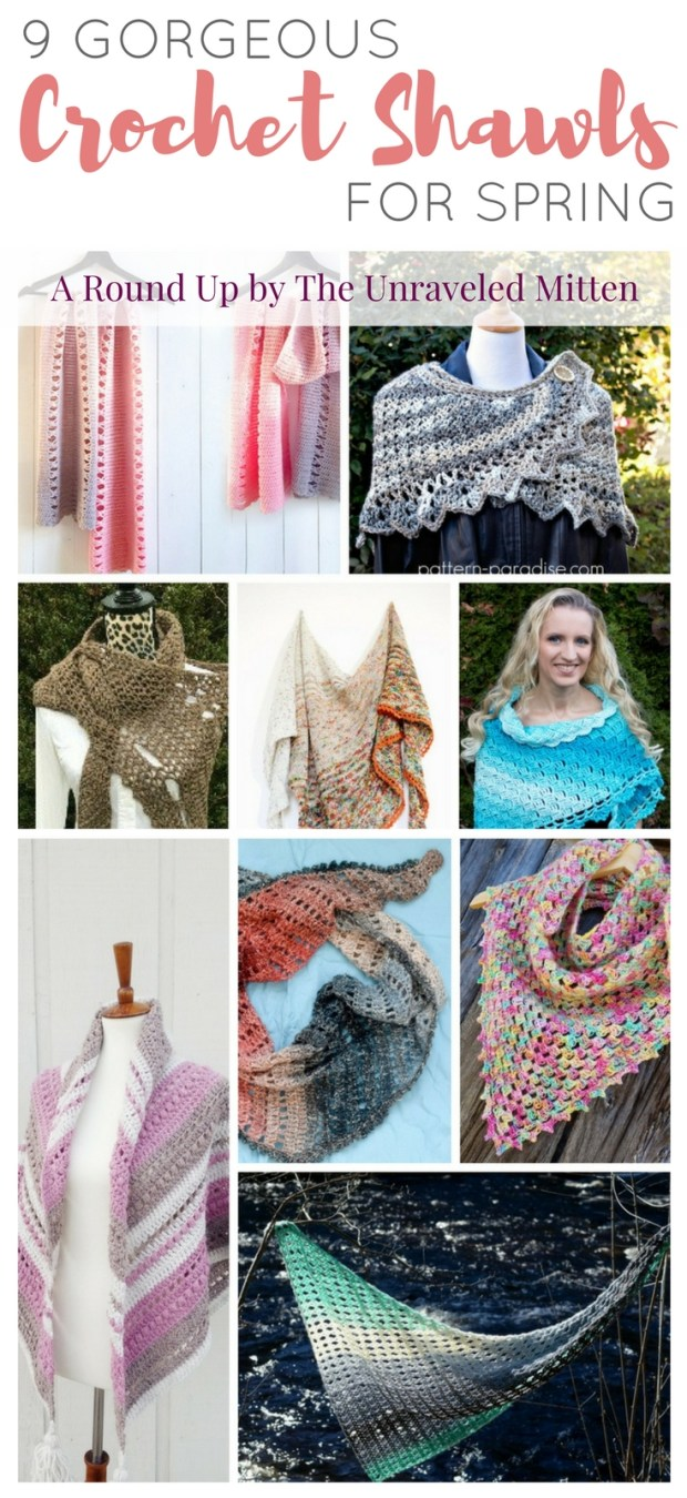9 Gorgeous Crochet Shawls for Spring | A crochet pattern round up compiled by The Unraveled Mitten