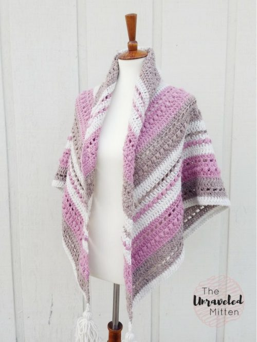 What You Love Shawl | | Free Crochet Pattern | 9 Crochet Shawls for Spring Round up by The Unraveled Mitten