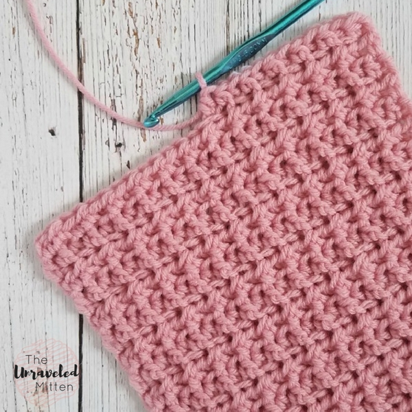 Back and Front Loop Half Double Crochet   Crochet Tutorial   The Unraveled Mitten