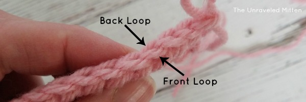 Back and Front Loop Stitch Placement | The Unraveled Mitten