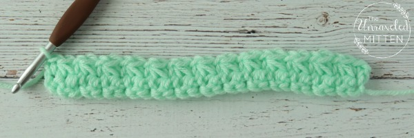 trinity crochet stitch after row 2