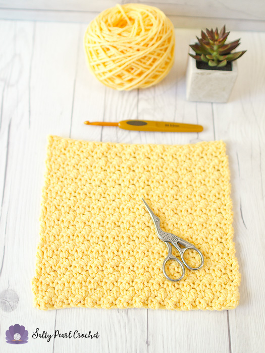 Lemon Peel Stitch Spa Washcloth | Dishcloth Free Crochet Pattern