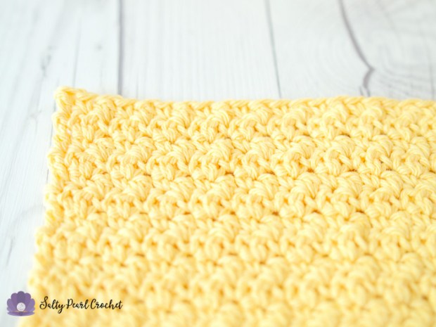 Crochet Lemon Peel Stitch Tutorial Close Up | The Unraveled Mitten