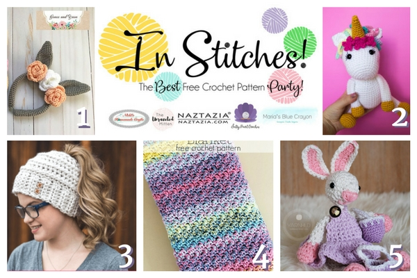 In Stitches: The Best Free Crochet Pattern Party #7 | The Unraveled Mitten