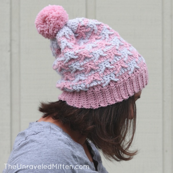 Hometown Slouchy Hat | Free Crochet Pattern | The Unraveled Mitten