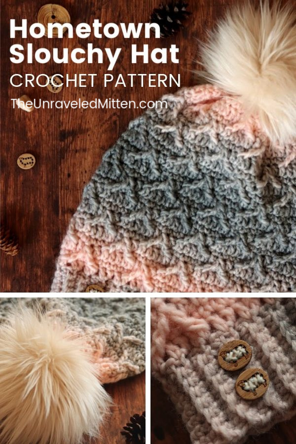 Textured Crochet Slouchy Hat Pattern | Free Crochet Pattern | The Unraveled Mitten