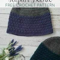 Rapids Beanie Free Crochet Pattern - Adult Sizes