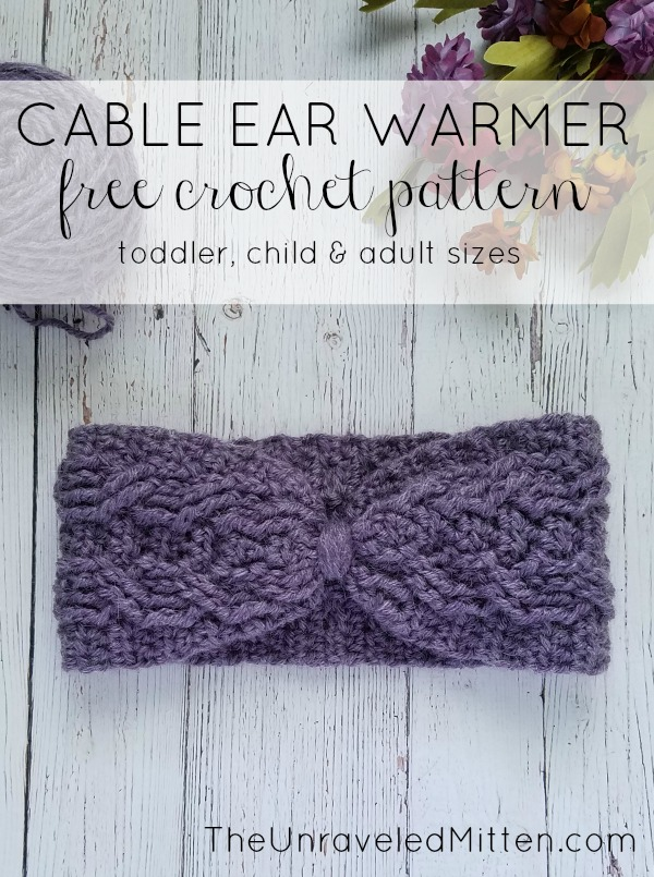 Magnificent Easy Crochet Cable Ear Warmer Free Pattern The Unraveled Download Free Architecture Designs Terchretrmadebymaigaardcom