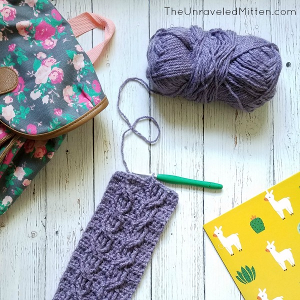 Easy Crochet Cable Ear Warmer | Free Crochet Pattern | The Unraveled Mitten