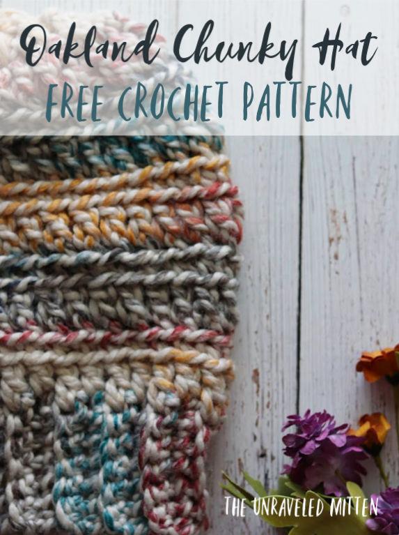 Oakland Chunky Crochet Hat Free Pattern