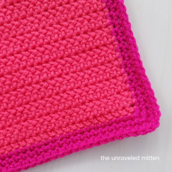 "Herringbone Half double crochet 12"" square 