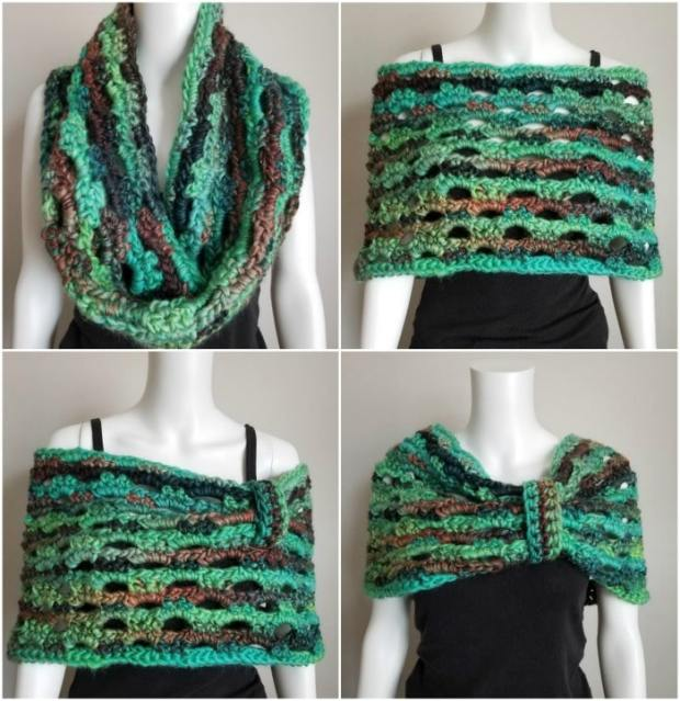 Emerald Isle Cowl by Cre8tion Crochet | Free Crochet Pattern | part of a round up on The Unraveled Mitten