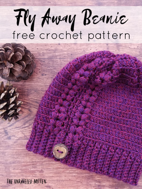Fly Away Beanie Free Crochet Pattern The Unraveled Mitten