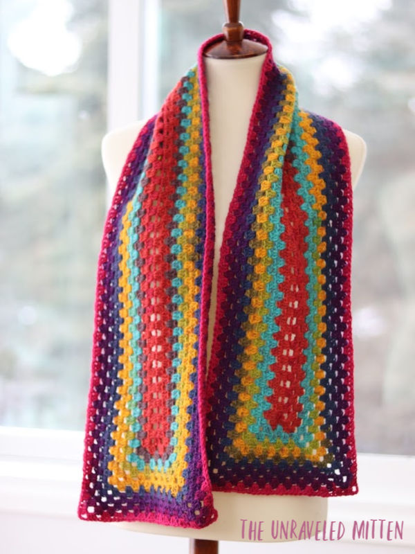 Not Just for Granny Scarf by The Unraveled Mitten | Free Crochet Pattern