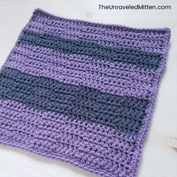 Wide Checkers Crochet Stitch   Stash Busting Crochet Along Square 6   Free Crochet Pattern   The Unraveled Mitten
