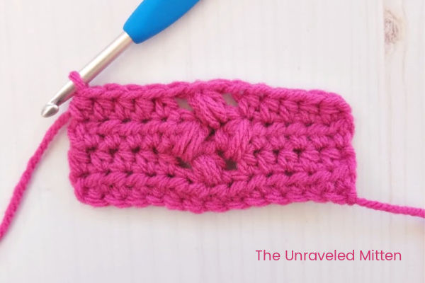 Tiny Flower Crochet Stitch Step 3 | The Unraveled Mitten