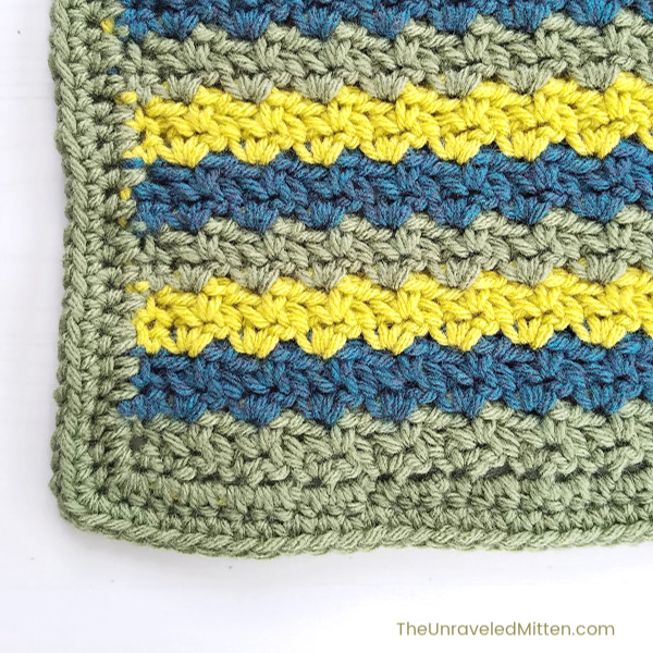 Wattle Stitch Square | Free Crochet Pattern | The Unraveled Mitten | 2019 Stash Busting Crochet Along Block #9