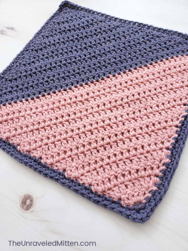 C2C Double Crochet Square | Free Crochet Pattern | The Unraveled Mitten