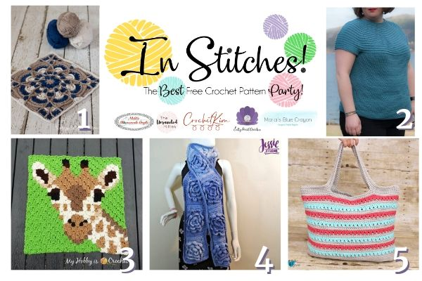 In Stitches #41 Crochet Pattern Link Party | The Unraveled Mitten