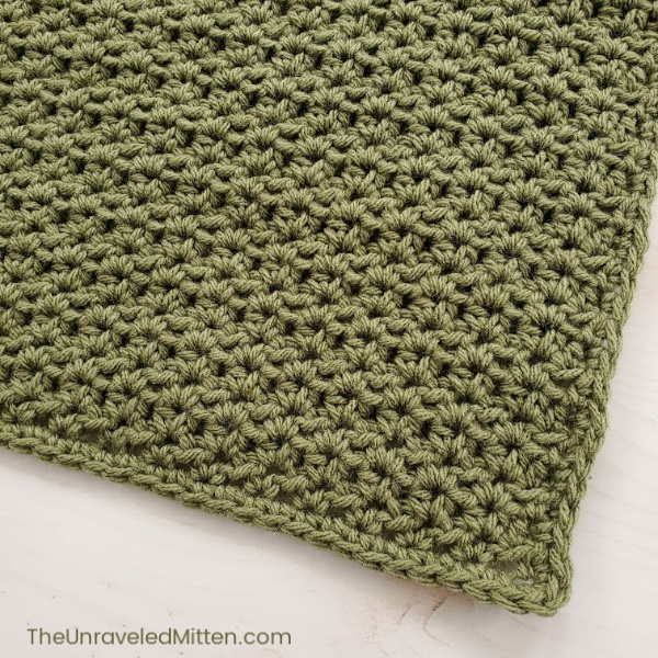 Half double crochet v stitch | The Unraveled mitten