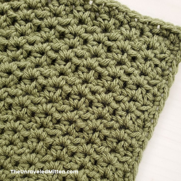 Half double crochet v stitch