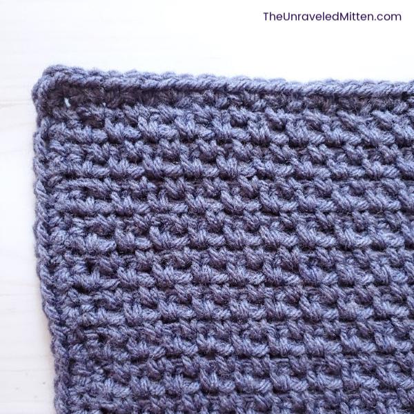 Linen Stitch Square | Free Crochet Pattern  | The Unraveled Mitten