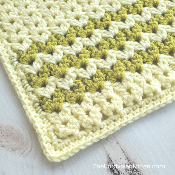 Cluster V-Stitch Square | Free Crochet Pattern | The Unraveled Mitten