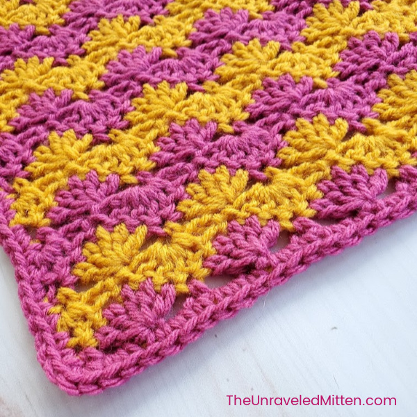 Interlocking Shell Stitch | Free Crochet Pattern | The Unraveled Mitten