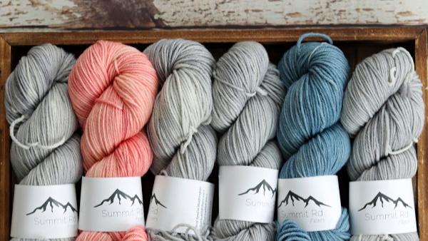 Yarn from Summit Rd Fibers featured in Stash Yarn Club's Winter 2020 Box