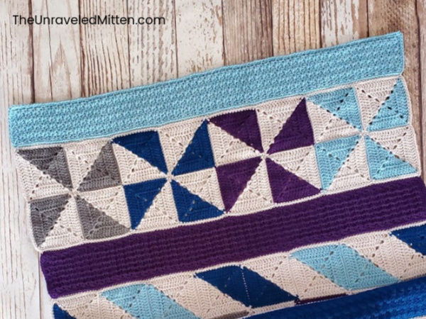 Winter Waves Quilt Inspired Crochet Throw Blanket Pattern