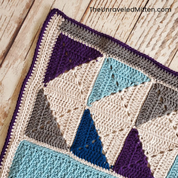 Winter Waves Quilt Inspired Granny Square Blanket