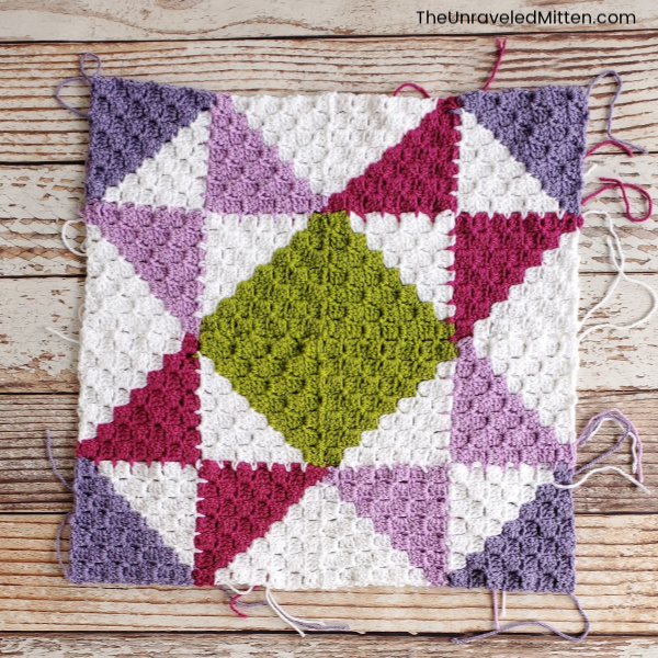 Corner to Corner Quilt Square Crochet Along | The Unraveled Mitten