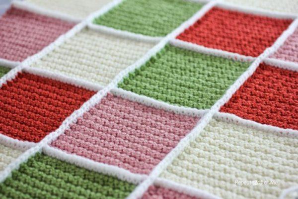 Single Crochet Join for Granny Squares