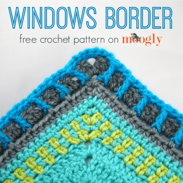 Windows border on crochet blanket
