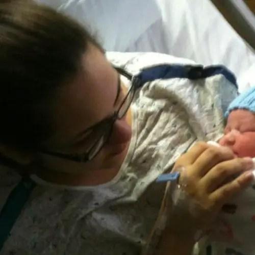 After losing Brandon, Angie had a healthy baby, Alex.