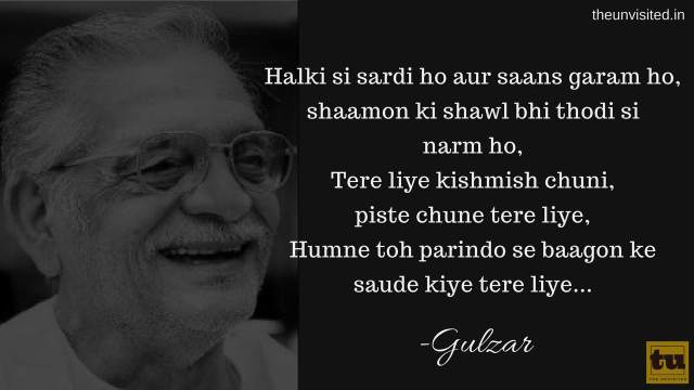 The unvisited gulzar poetry 3