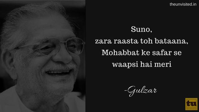 The unvisited gulzar poetry 9
