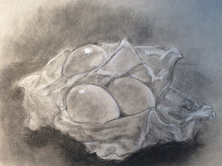 A heightened drawing with flaws by L.S. King