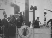 The deck of the Peary at launch. The Peary carried the naval crew and three planes.