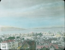 Photograph of the Panama-Pacific International Exposition from the Hills of San Francisco, 1915. Local ID: 16-SFX-35.