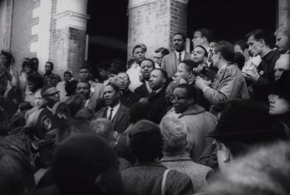 Dr. King at Brown Chapel A.M.E. Church.