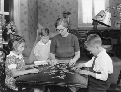 Recreation hour in the farm home, Montgomery County, Maryland. Nov 1933 (16-G-162-1-S-18137C)
