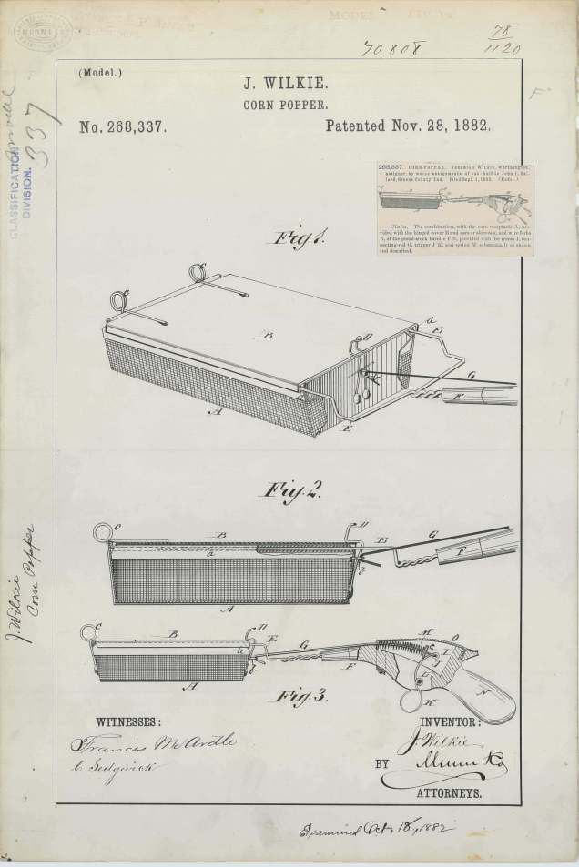 J. Wilkie's Corn Popper https://catalog.archives.gov/id/6277691