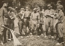 Colored Troops play against their white counterparts in a game of baseball, Hyde Park, London. July 1918. Local Identifier, 165-WW-127-20.